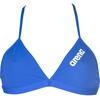 arena Solid Tie Back bikini Dames blauw